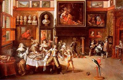 Almoço na casa do prefeito Rockox, Frans Francken II