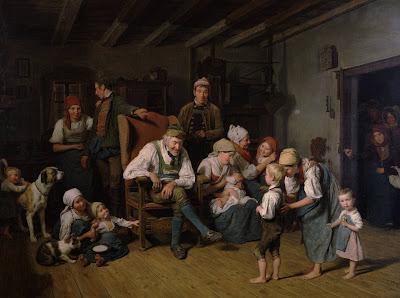 Familia camponesa na Austria