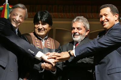Lula, Kirchner, Morales e Chávez, Puerto Iguazú, Ricardo Stuckert-PR