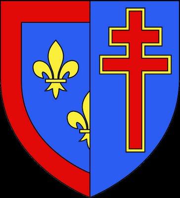 Brasão com a Cruz de Anjou