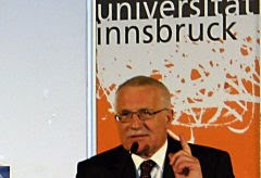 Prof. Vaclav Klaus, presidente da Repblica Checa: