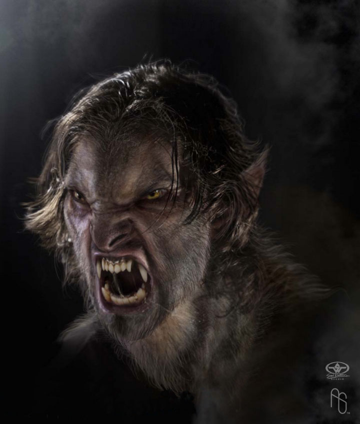 The wolf den: Werewolf - Enraged yellow eyes male werewolf ...