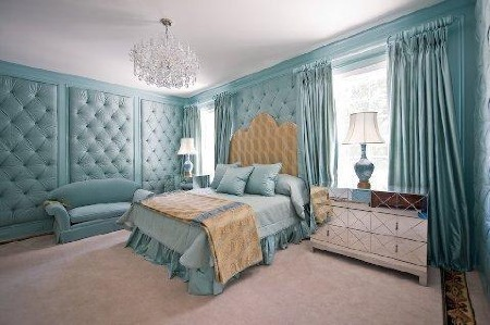 Design baby room gazee for Padded wall wallpaper