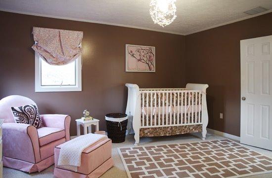 Pink Brown Baby Nursery