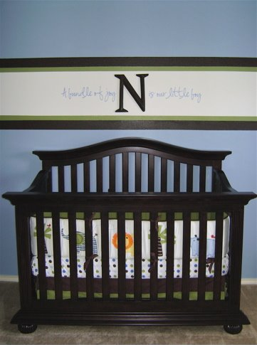 boys blue baby nursery