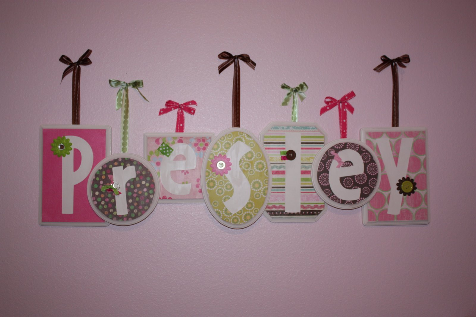 Diy decor ideas design dazzle for Baby name decoration