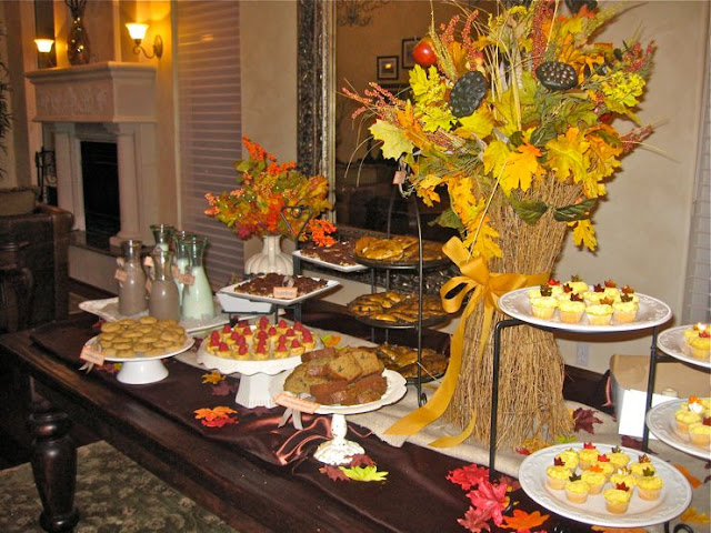 fall baby shower theme with dessert bar my friends and i held a baby ...