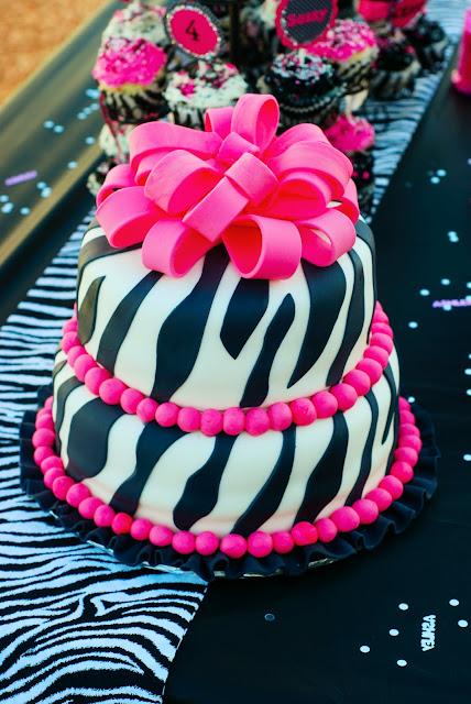 Pink And White Zebra Cake. Black, Pink and White Zebra