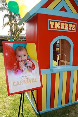 Kids Birthday Party Ideas: Over the Top Carnival Theme Birthday