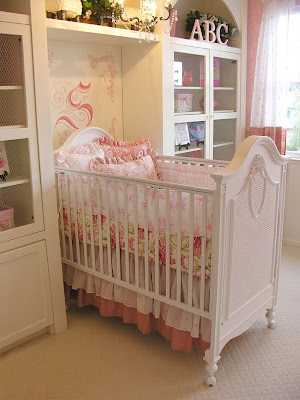 design a room shabby chic girly baby nurseries. Black Bedroom Furniture Sets. Home Design Ideas