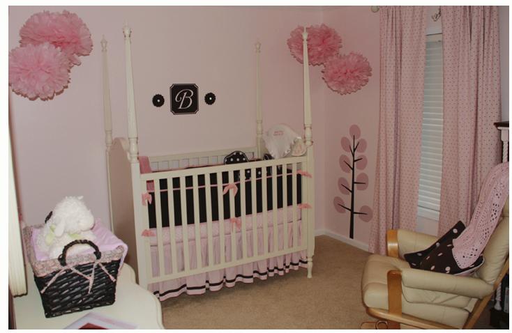 Home sweet home pink amp brown baby nurseries