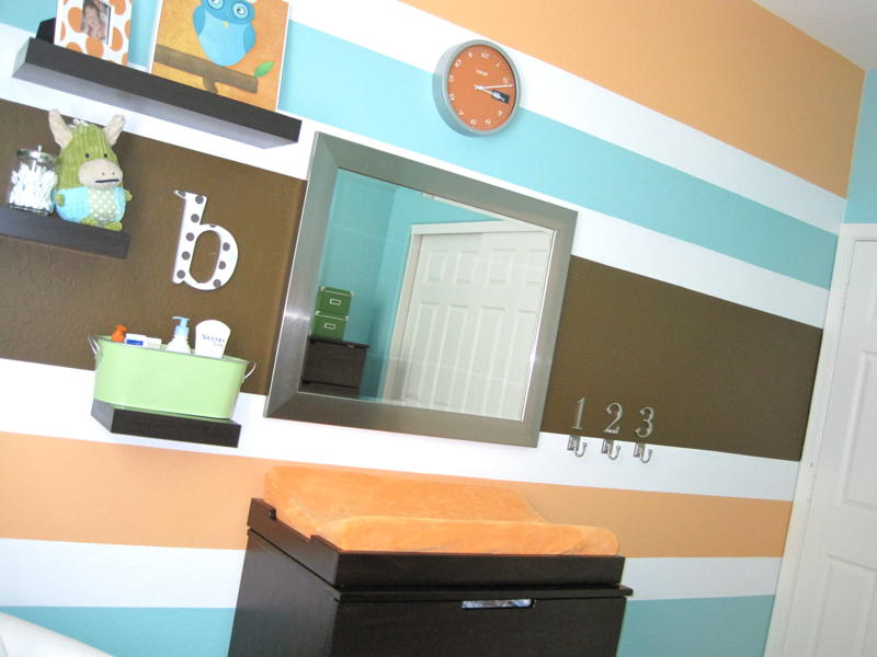 Wall paint ideas and colors on pinterest striped walls for Painting stripes on walls in kids room