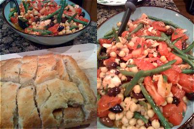 Salmon Salad, Chickpeas, Bon Appetit, Tomatoes, Green Beans, Summer, Mediterranean