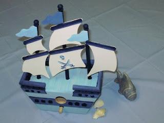 Becky susanne my blue heaven nautical themed baby shower - Nautical piggy banks ...