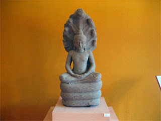 One of the excavated Buddhas
