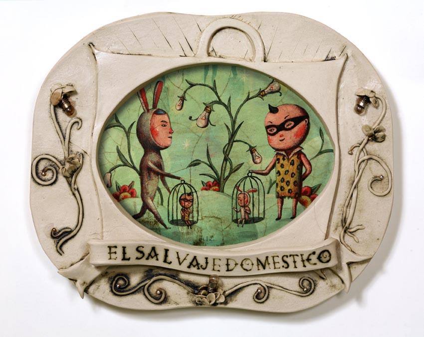 [El+salvaje+doméstico+(Magicomora+&+Lusesita).35+x+40cm+1500+euros]