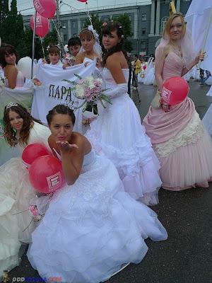 girl in a wedding dress