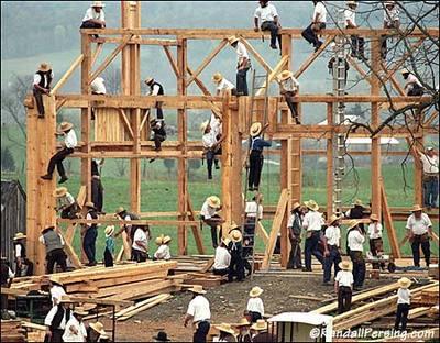 El trigo ahogado amish huteritas y menonitas viviendo for Amish home construction