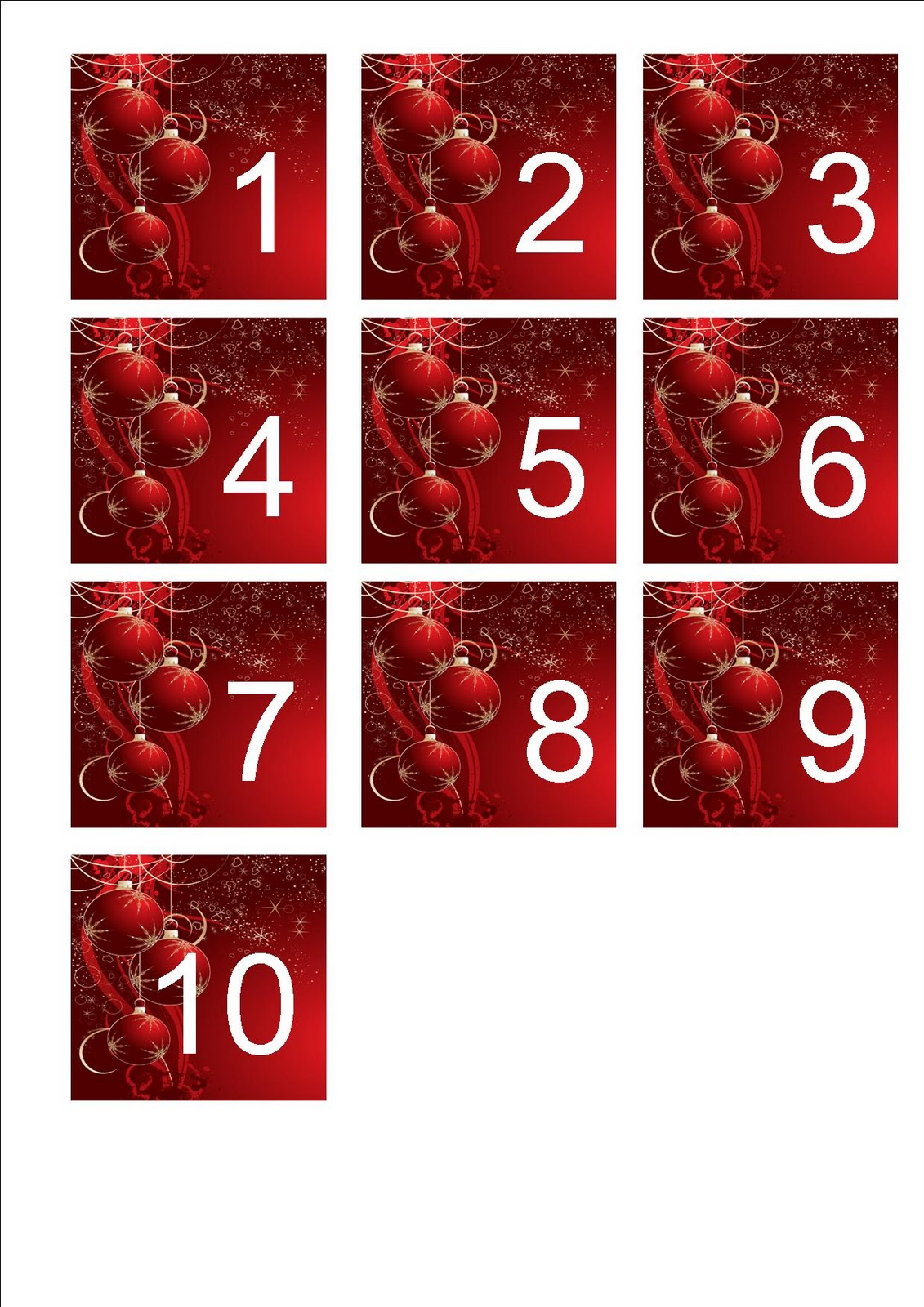 Universal image with regard to christmas numbers printable