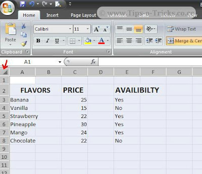 how to delete all selected cells in excel