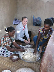 Me and the Mamas Making Chapatis for the Breakfast Program