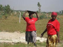 Mama Elizabeth and Mama Sabina Working at New Site