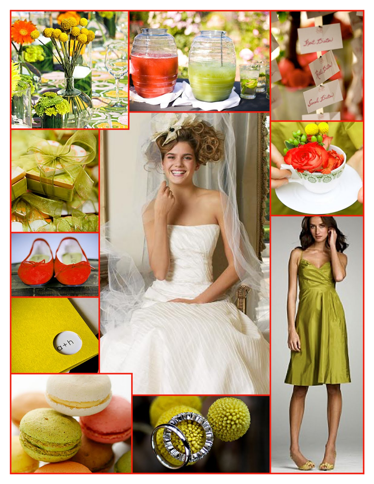 I do inspiration weekend wedding in chartreuse red yellow welcome to a weekend wedding in chartreuse red and yellow ombrellifo Images