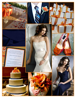 Good morning everyone and welcome to a Weekend Wedding in Navy Blue Orange