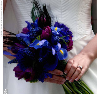 I Do Inspiration Floral Friday Dark Blue Burgundy Amp Purple Wedding