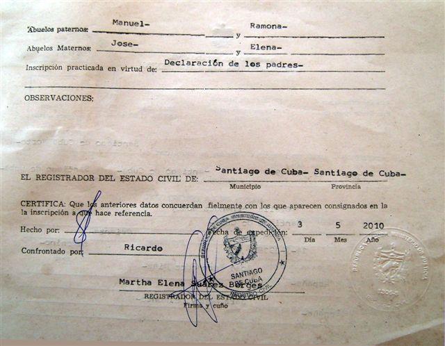 Excepcional Certificación Certificado De Nacimiento Composición ...