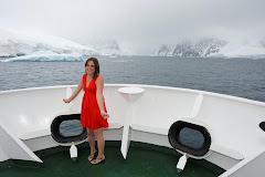 Red dress in Antarctica