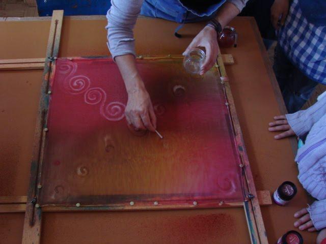 pintura em seda