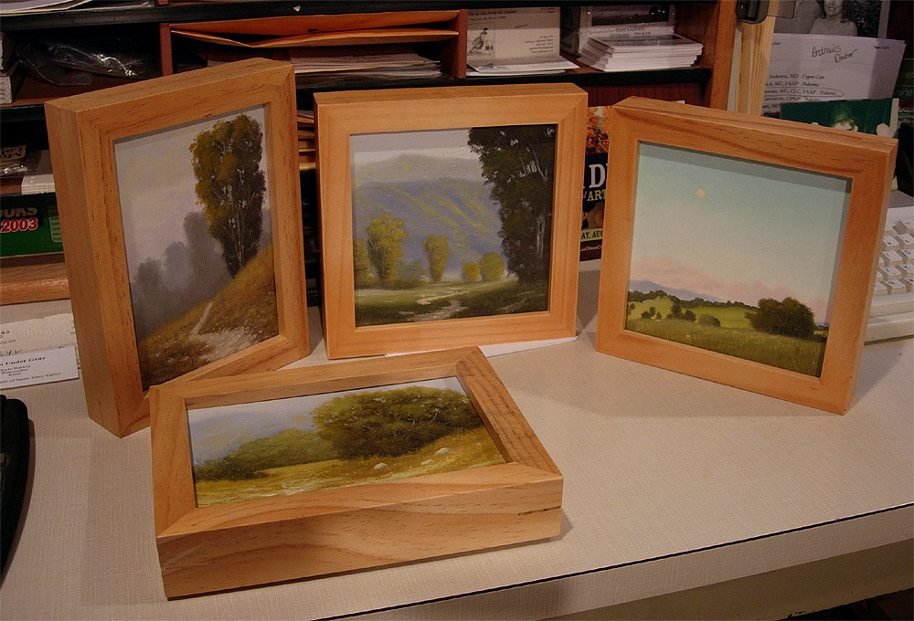 jerrys artarama an online art supply store that i use had a great sale on these small wooden frames i think they were like 6 per frame