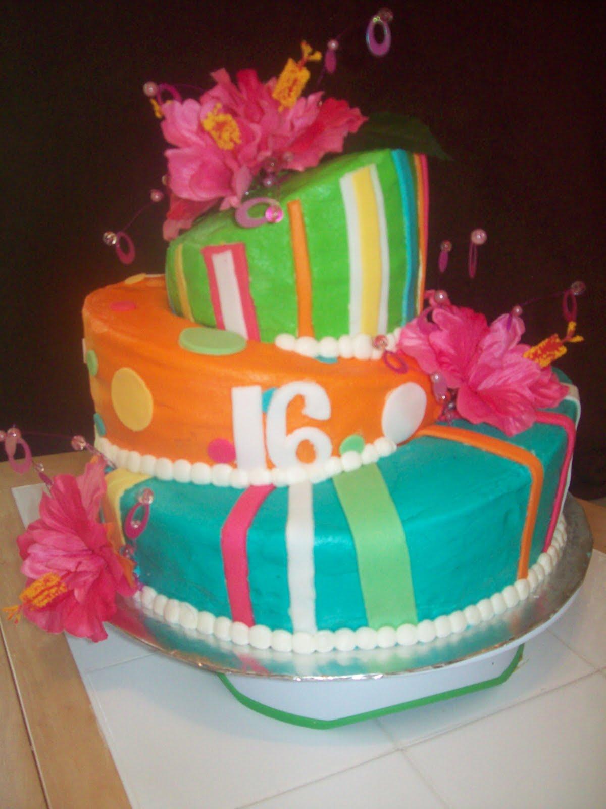 Cake Designs For 16th Birthday Girl : BB Cakes: Topsy-turvy 16th birthday cake