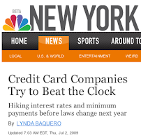 SPECIAL THANKS to NBC & LYNDA BAQUERO for mentioning BLOGGERS AGAINST CHASE BANK.