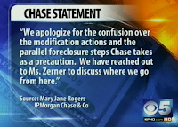 CHASE BANK ADMITS to PARALLEL FORECLOSURE!