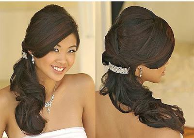 10 peinados para novias con pelo largo El Zapato de Cristal
