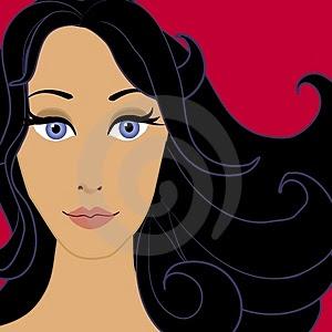 El cabello negro