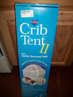 While chasing Reef around the store I found the most amazing thing in the back corner A used crib tent priced at $30.00. & My Dear Trash: Seriously? A Used Crib Tent!
