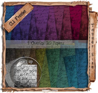 Tagger Size Grunge Script Overlay & Papers Preview