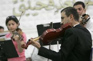 L'Orquestra Simfònica Nacional de l'Iraq durant un concert al  Hunting Social Club de Baghdad el passat 25 d'octubre