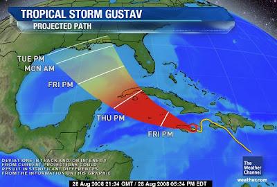 Hurricane Gustav Threatens GOP Convention