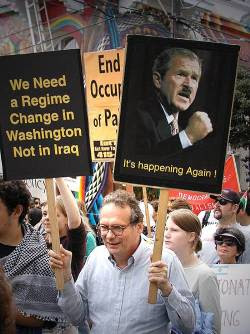 media funny bothered angry liberals carrying signs rallies bush years