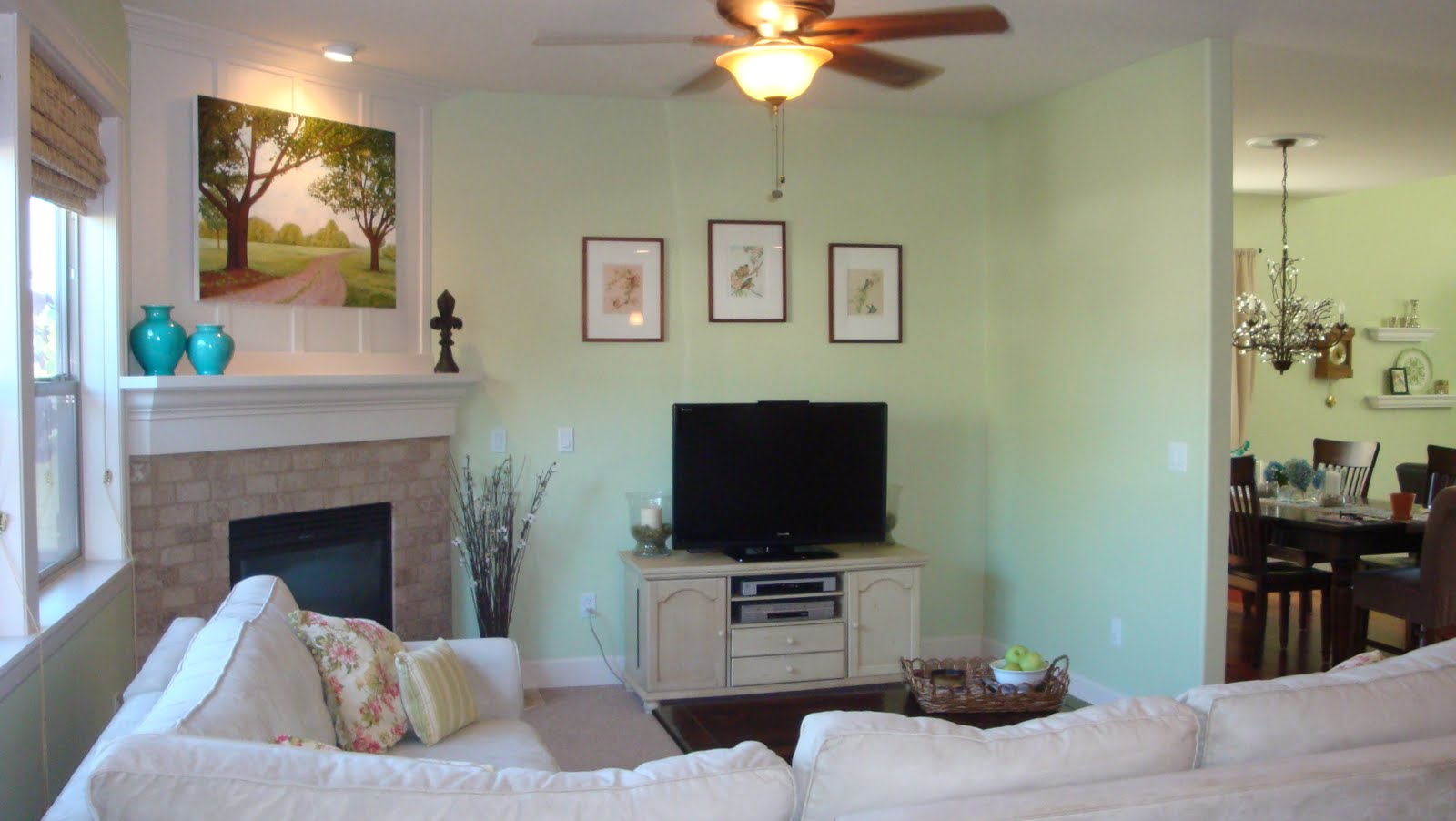 Pink Postcard*: family room before and after (well, almost)