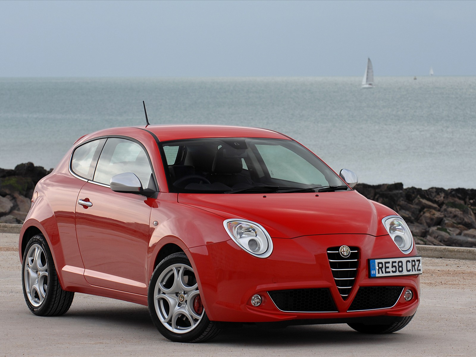 sport car alfa romeo mito uk version 2009. Black Bedroom Furniture Sets. Home Design Ideas