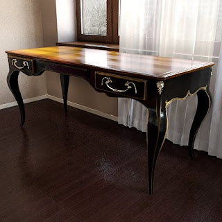 Free 3D model - Old-style classic table