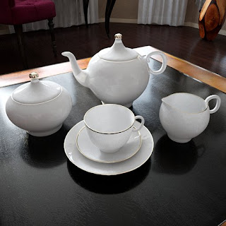 Free 3D model - White porcelian tea set
