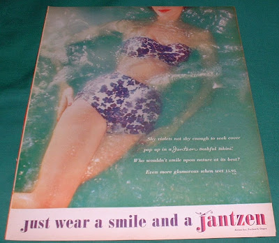 This is a 1960. Jantzen Bikini Ad Measures 13 3/4
