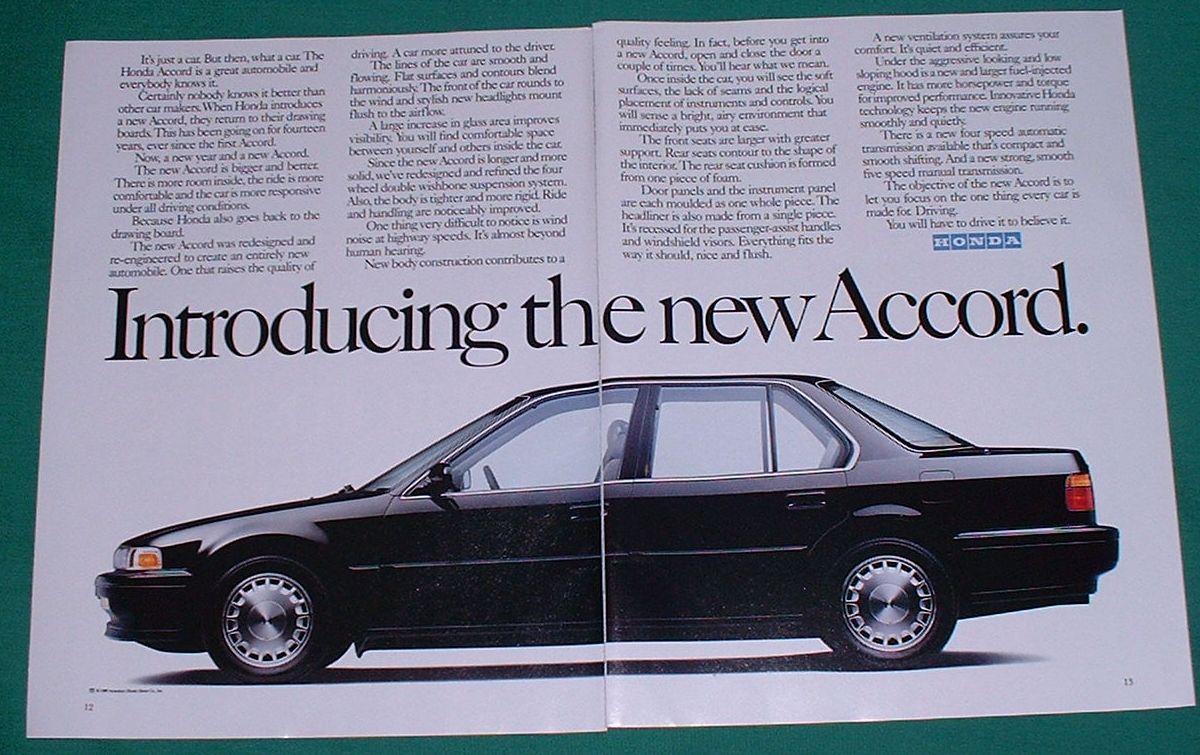 4th gen catalogs/literature  Honda+Accord+Ad+1990