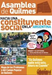 Información de la Constituyente Social en Quilmes